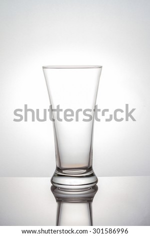 Glass on white background - stock photo