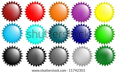 Glass orb color collection - stock photo