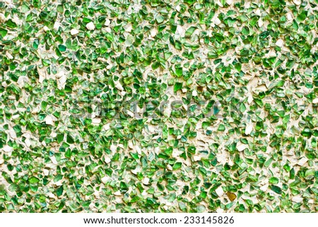 Glass pieces wall texture. - stock photo