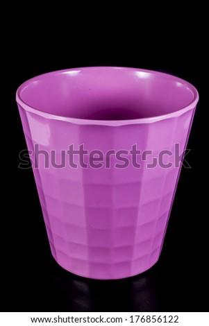 Glass  Pink on black background - stock photo