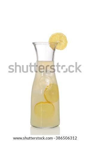 glass pitcher of lemonade - stock photo