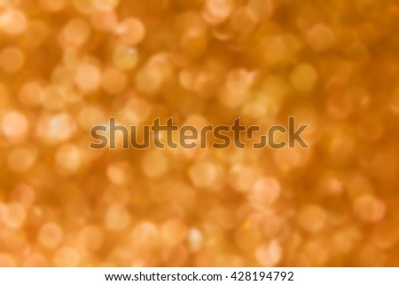 Glass plate dimension texture style fresh orange bokeh abstract background, round shape bokeh pattern on glass texture for background
