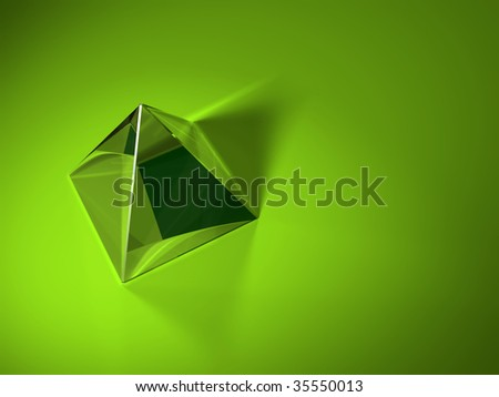 glass pyramid, footage  available also - stock photo