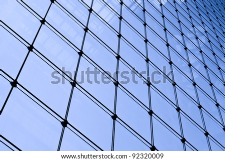 Glass screen wall