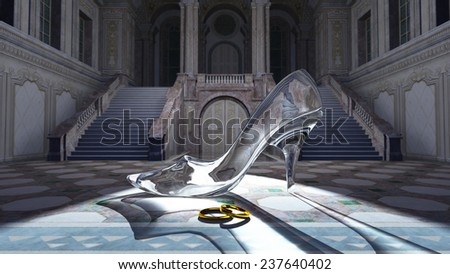 glass shoes - stock photo