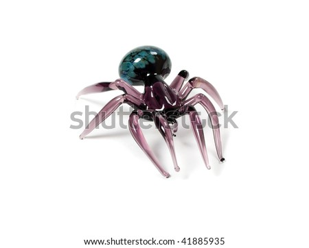 glass spider isolated on white