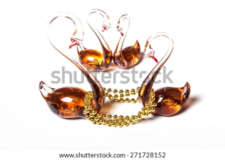 glass swans