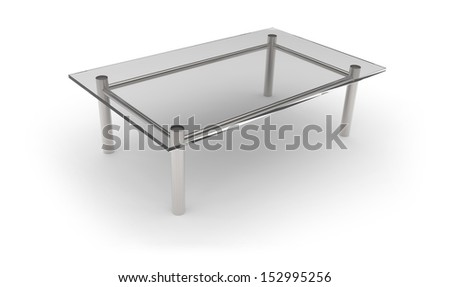 Glass table - stock photo