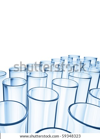Glass Tubes - stock photo