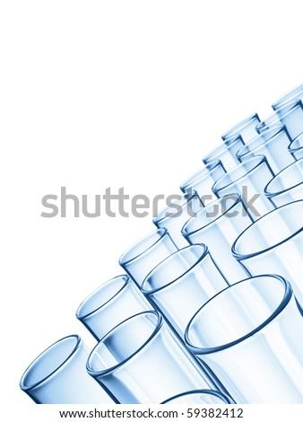 Glass Tubes - stock photo