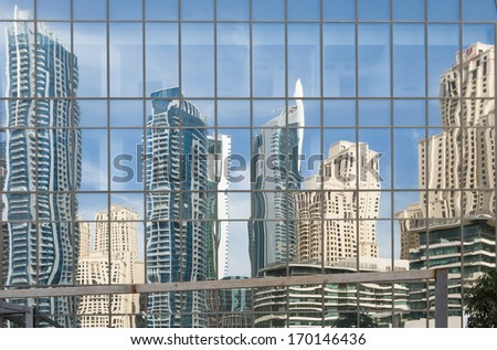 Glass wall - stock photo