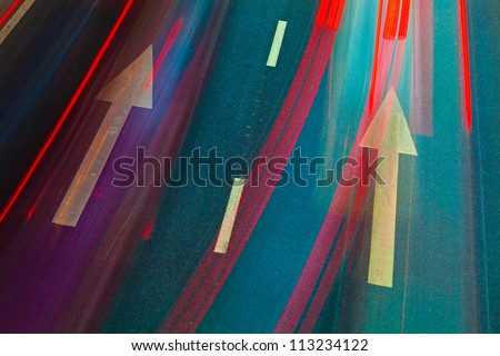 glass wall of office with reflection - stock photo