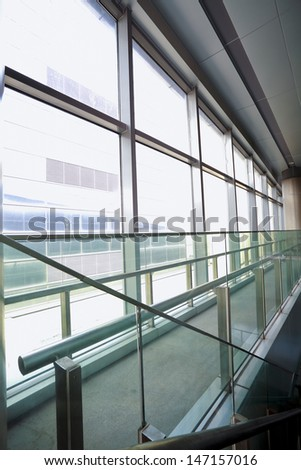 Glass windows at morden office building - stock photo
