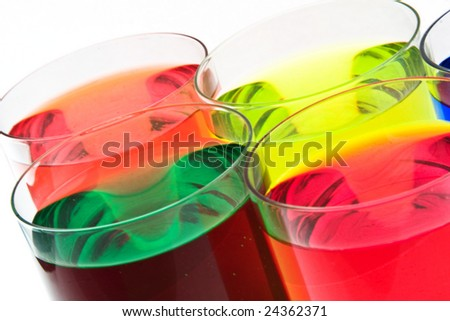 Glass with drink - stock photo