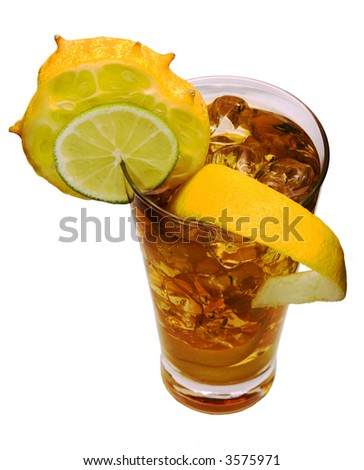Glass with exotic drink