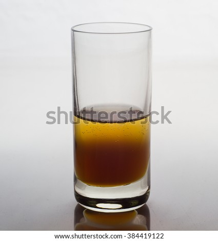 Glass with shot