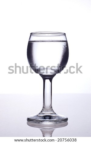 glass with vodka