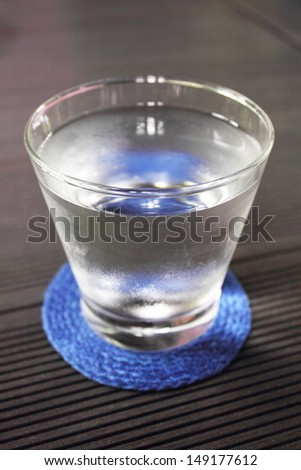 Glass with water - stock photo