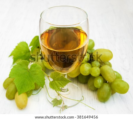 Glass with wine  on a wooden background