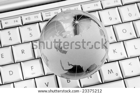 glass world on laptop