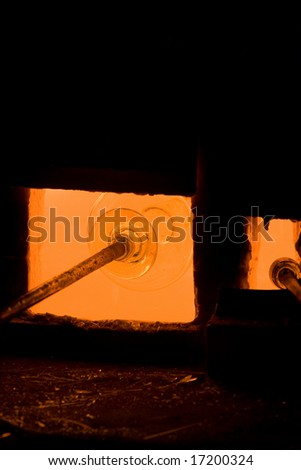Glassblowing - stock photo