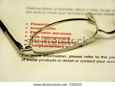 glasses and financial