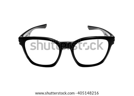 Glasses frame, isolated on white background