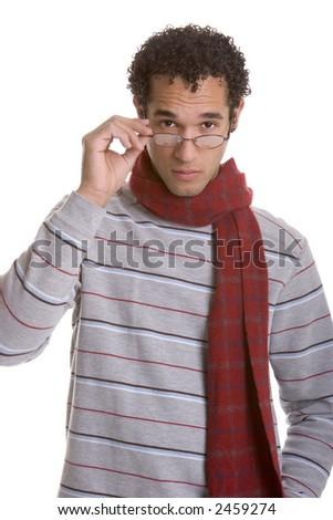 Glasses Man - stock photo