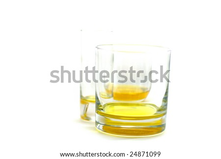 Glasses of a little oil