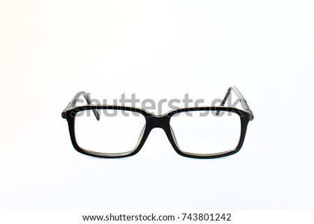 Glasses Classical Form Black Frame On Stock Photo 743801242 ...