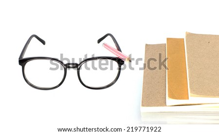 Glasses on a White Background - stock photo