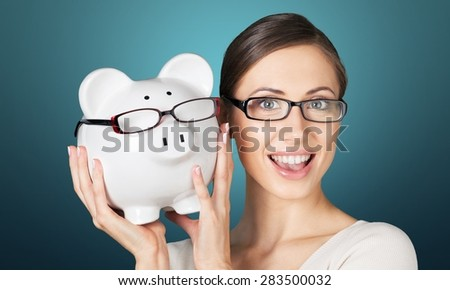 Glasses, save, savings. - stock photo