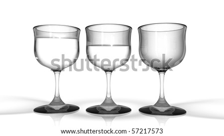 Glasses with Water - stock photo