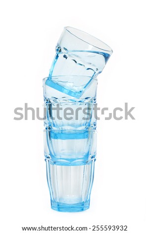 glasses with water on isolated, glasses of water