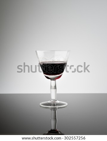 glassware of red wine