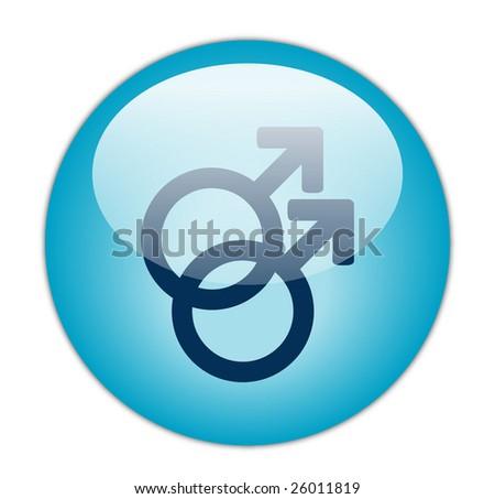 Glassy Blue Gay Icon - stock photo