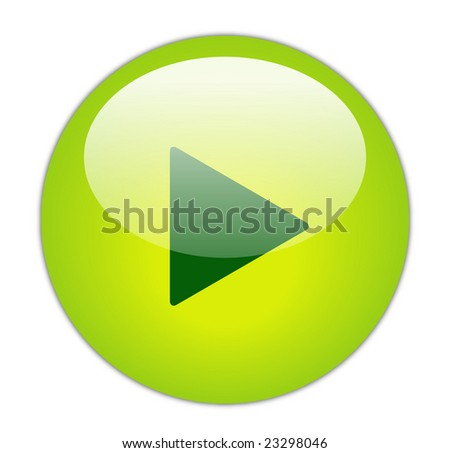 Glassy Green Play Icon