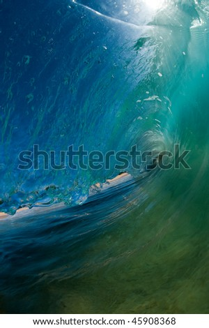 glassy hollow wave