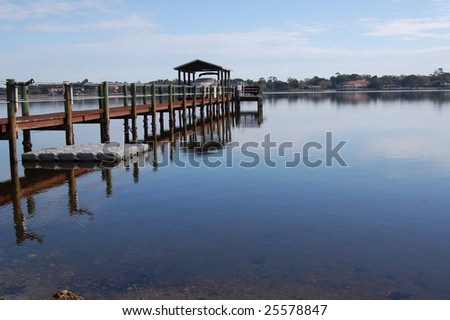 Glassy river - stock photo