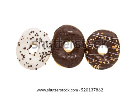 glazed donuts on a white background