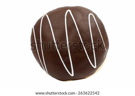 glazed donuts on white background - stock photo