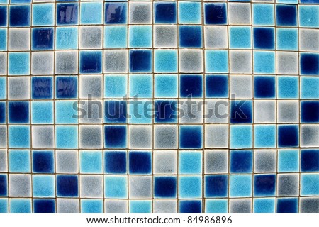 Glazed tiles on the pool.