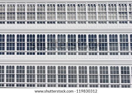 glazed windows - stock photo