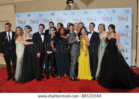 Glee stars at the 67th Golden Globe Awards at the Beverly Hilton Hotel. January 17, 2010  Beverly Hills, CA Picture: Paul Smith / Featureflash