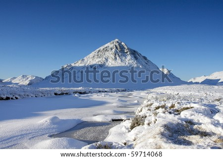 Glencoe in winter. - stock photo