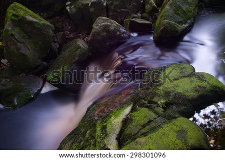 Glencree, long exposure, Ireland - stock photo