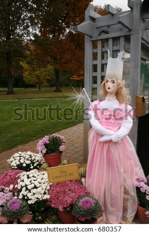 Glenda, Good witch from the Wizard of OZ - stock photo