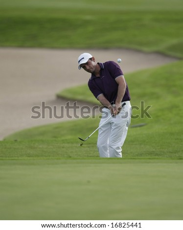 GLENEAGLES SCOTLAND AUGUST 29, Scotland's Peter Whiteford chips onto the 9th green whilst competing in the Johnnie Walker Classic PGA European Tour golf tournament at Gleneagles Perthshire Scotland