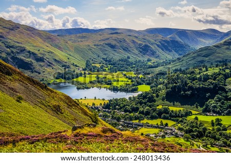 Glenridding and part of Ullswater - stock photo