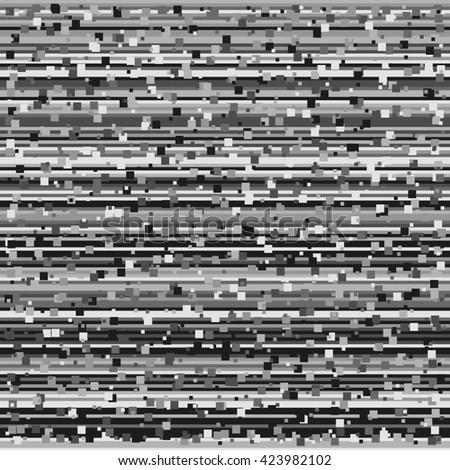 Glitch digital image data distortion. The loss of the television signal corrupted image. Chaos aesthetics of signal error. Digital decay. Digital background . - stock photo